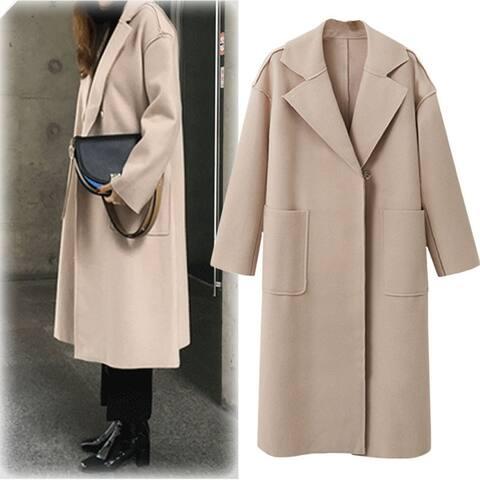 Ms. Long Woolen Coat In Coat