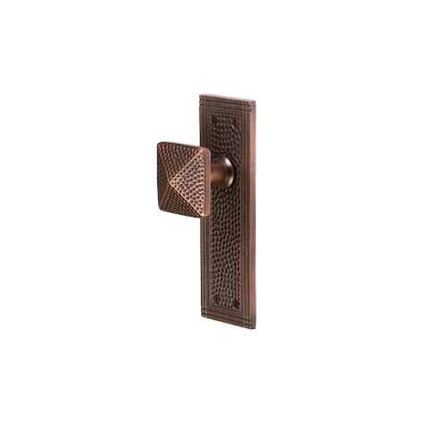 The Copper Factory CF183 Solid Copper Passage Door Knob Set with Rectangular Rosette -