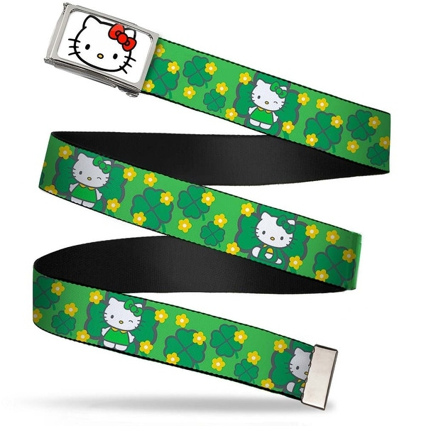 Hello Kitty Face Fcg White Chrome Frame Hello Kitty St. Patrick's Day Web Belt