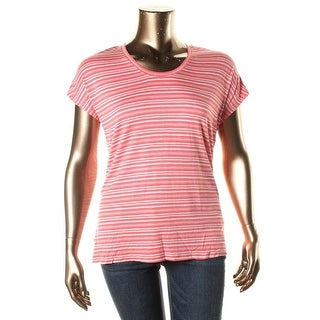 Calvin Klein Jeans Womens Pullover Top Jersey Striped