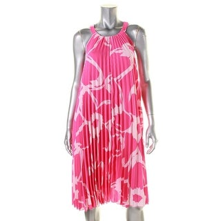Vince Camuto Womens Petites Cocktail Dress Printed Tent