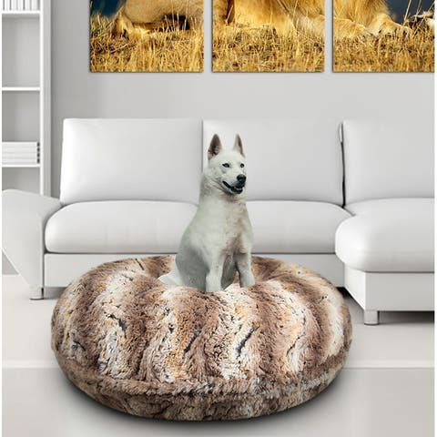 Bessie and Barnie Signature Simba Luxury Extra Plush Faux Fur Bagel Pet / Dog Bed