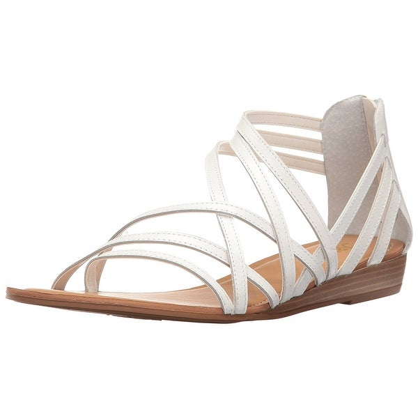 Carlos by Carlos Santana Womens amara Leather Open Toe Casual Strappy Sandals