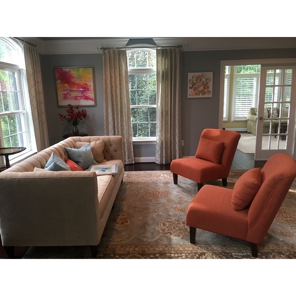 Top Product Reviews For Porch Den Anna Fiesta Orange Accent Chair