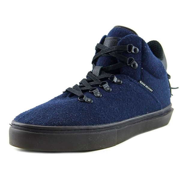 Clear Weather One Ten Men Round Toe Canvas Blue Skate Shoe