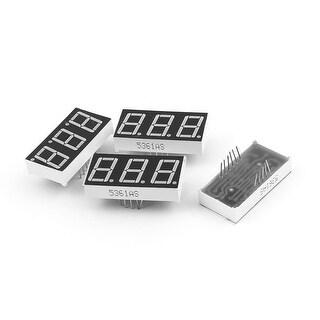 4 Pcs Common Cathode 11 Pin 3 Bit 7 Segment 0.56 Red LED Display Digital Tube