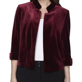 Tahari By ASL NEW Red Womens Size 18W Plus Velvet Open-Front Jacket|https://ak1.ostkcdn.com/images/products/is/images/direct/a3e64332ca204f5a16cd63ac65ba2a41604b699c/Tahari-By-ASL-NEW-Red-Womens-Size-18W-Plus-Velvet-Open-Front-Jacket.jpg?_ostk_perf_=percv&impolicy=medium
