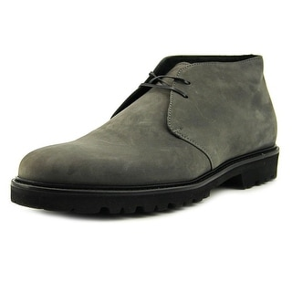 Theory Richmond Men  Round Toe Leather Gray Boot