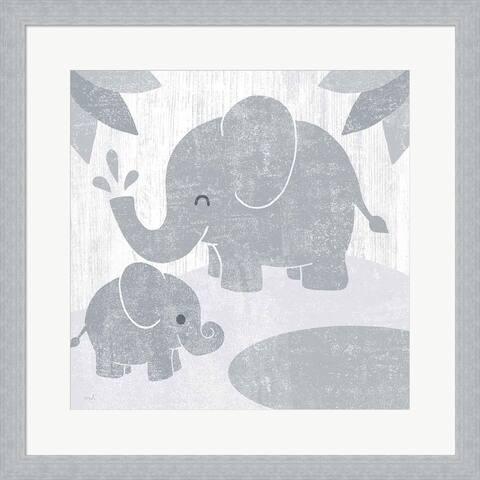 Moira Hershey 'Safari Fun Elephant Gray no Border' Framed Art