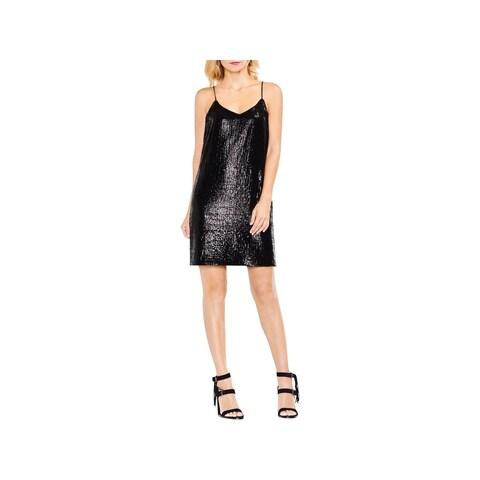 Vince Camuto Womens Slip Dress Sequin Mini