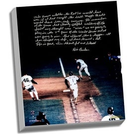 Bill Buckner Facsimile 86 World Series Error Story Stretched 16x20 Story Canvas