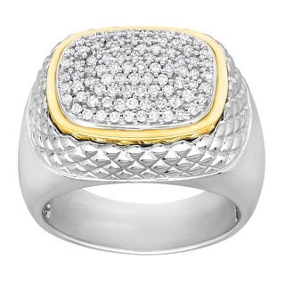 1/2 ct Diamond Ring in Sterling Silver and 14K Yellow Gold
