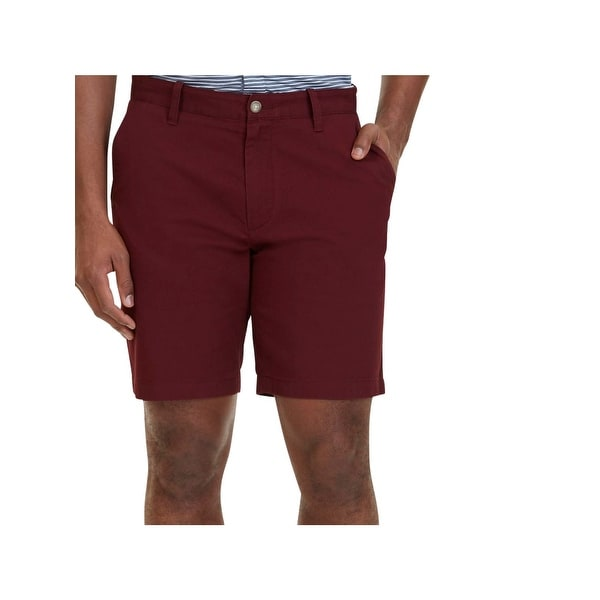 Nautica Mens Casual Shorts Pleated Classic-Fit