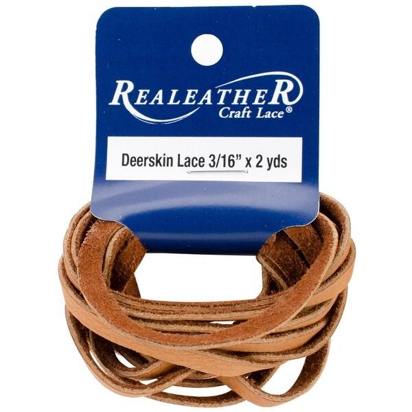 "Deerskin Lace .1875""X2yd Packaged-Saddle Tan"