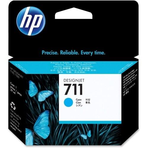 Hewlett Packard CZ130A HP 711 29-ml Cyan Ink Cartridge - Cyan - Inkjet - 1 Each
