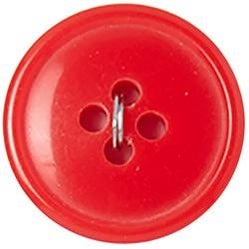 "Red 4-Hole 3/4"" 3/Pkg - Slimline Buttons Series 1"