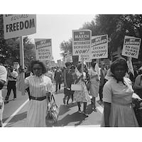 ''Civil Rights March, Washington DC, 1963'' by McMahan Photo Archive African American Art Print (8 x 10 in.)