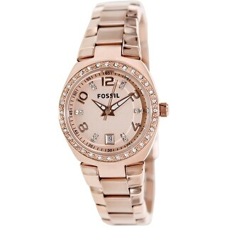 Fossil Women's Glitz Rose-Gold Stainless-Steel Fashion Watch