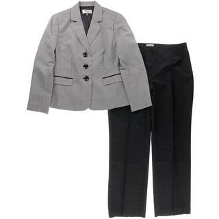 Le Suit Womens Monte Carlo Textured 2PC Pant Suit - 14