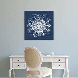 Easy Art Prints Vision Studio's 'Sea Anemone on Indigo I' Premium Canvas Art