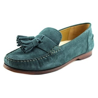 Cole Haan Pinch Grand Tassel Square Toe Suede Loafer