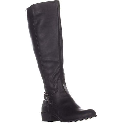 Alfani Womens kallumm Leather Closed Toe Knee High Cold Weather Boots