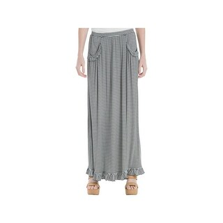 Max Studio Womens Natalie Maxi Skirt Striped Long