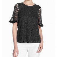 1a9df99661d Catherine Malandrino Deep Black Womens Size Medium M Lace Blouse
