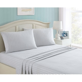 Link to Taylor & Olive Alpine Blue Stripe Sheet Set Similar Items in Kids Sheets & Pillowcases