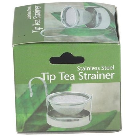 HIC 1011G Tip Tea Strainer, Stainless Steel, 2""