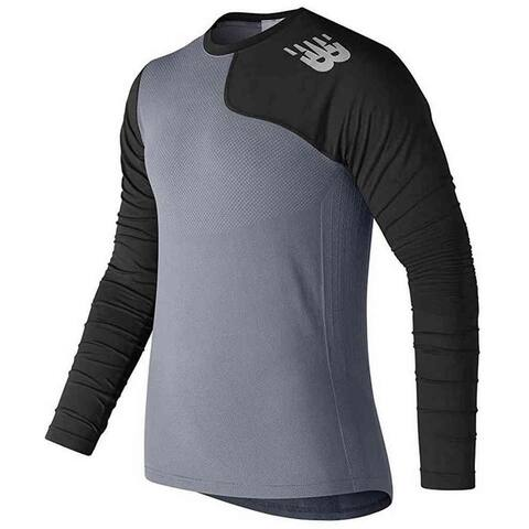 New Balance Mens Seamless X4J Asymmetrical Left Handed Pullover Top Shirt Colors