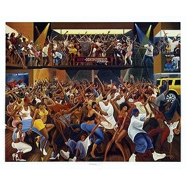 ''Hip Hoppers'' by Ernest Watson African American Art Print (27 x 32.75 in.)