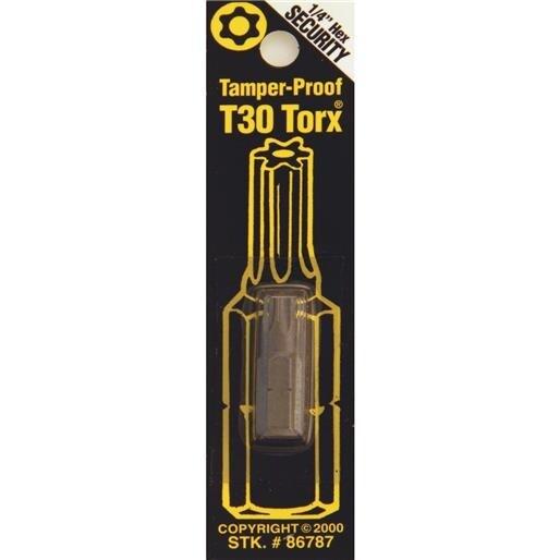 Best Way Tools T30 Tmpr Security Bit 86787 Unit: CARD