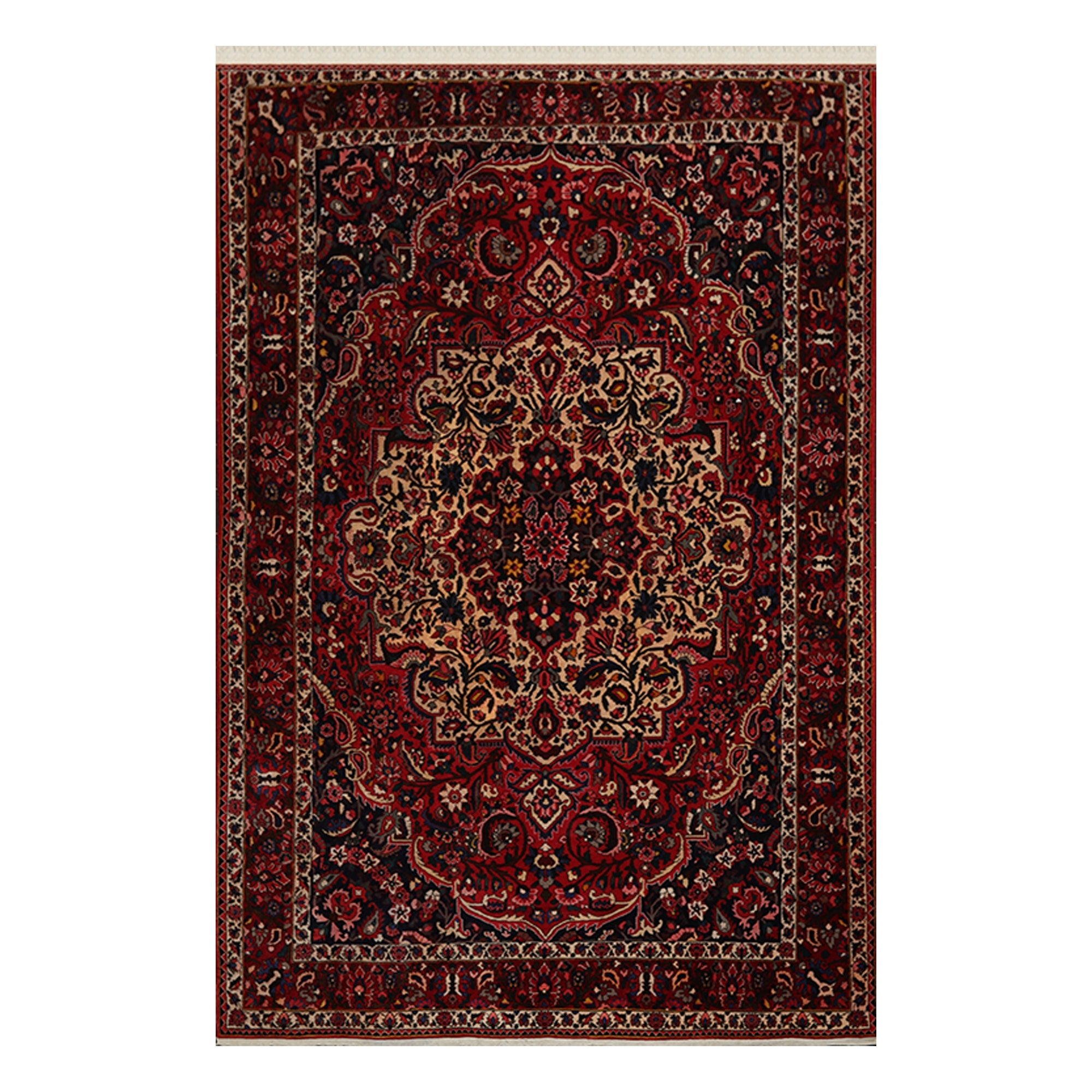 Bhakhtiari Hand Knotted Red Beige Wool Persian Oriental Area Rug 8x10 07 00 X 10 06 Overstock 31030265