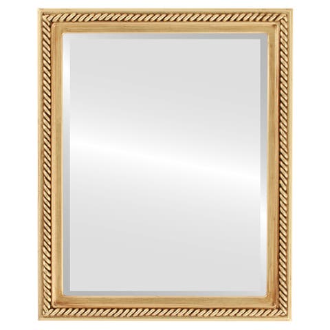 Santa Fe Framed Rectangle Mirror in Antique Gold Leaf