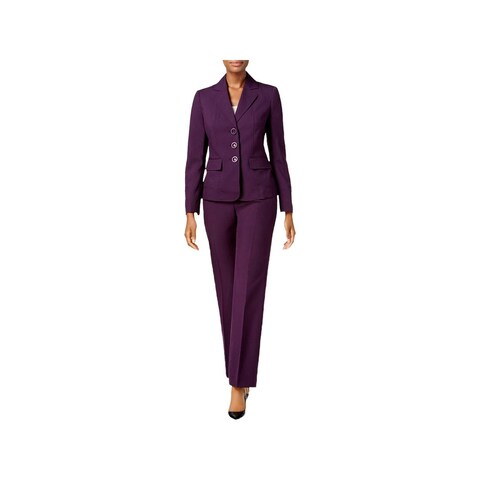 Le Suit Womens Pant Suit Business Attire Professional