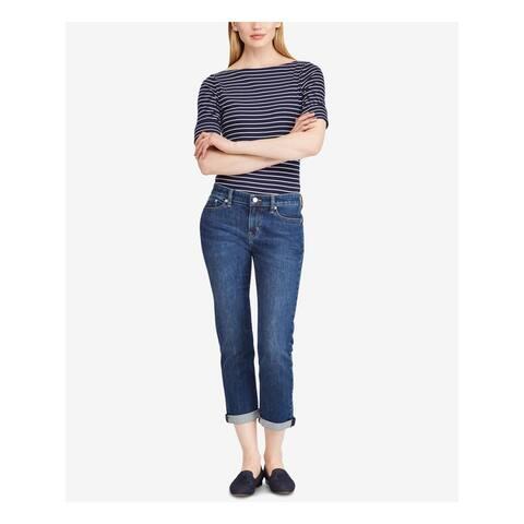 RALPH LAUREN Womens Blue Capri Jeans Size 14