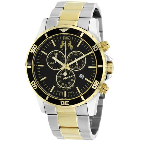 Jivago Men's Ultimate Black Dial Watch - JV6129