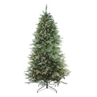 "7.5' x 55"" Pre-Lit Washington Frasier Full Artificial Christmas Tree - Clear Lights - green"