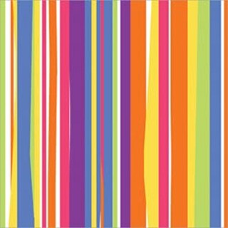 "Colorful Stripes - Gift Wrap 5'X30"""