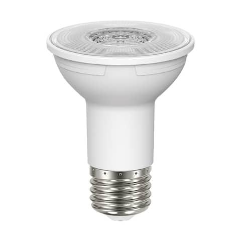 5.5 Watt PAR20 LED 90 CRI 3000K 40 deg. Beam Angle Medium base 120 Volt - Clear
