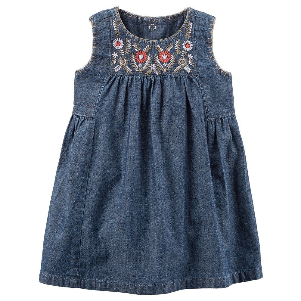 Baby Carters Baby Girls Embroidered Dress
