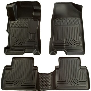 Husky Weatherbeater 2009-2013 Toyota Corolla/Matrix FWD Black Front & Rear Floor Mats/Liners