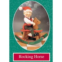 "9.5"" Zims The Elves Themselves Rocking Horse Collectible Christmas Figure"