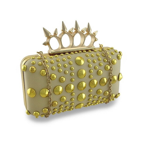 Spiked Knuckle Duster Clutch Purse Studded Evening Bag