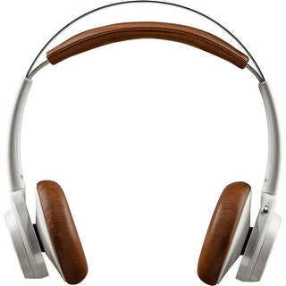 Plantronics BackBeat SENSE Wireless Headphones + Mic - Stereo - Tan, White - Mini-phone - Wired/Wireless - Bluetooth - 328.1 ft