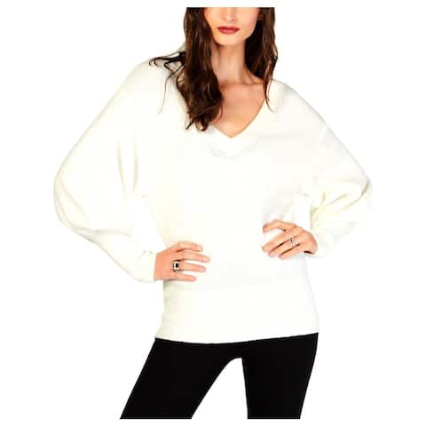 MICHAEL Michael Kors Womens Pullover Sweater Relaxed Sleeve V-Neck