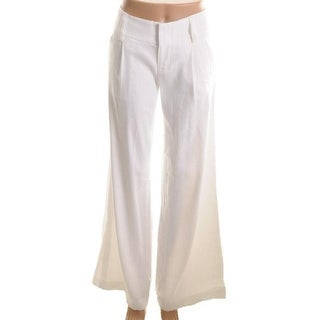Alice + Olivia Womens Eric Linen Blend Pleated Casual Pants - 8