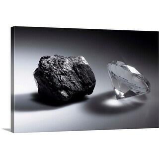 """Diamond and piece of coal"" Canvas Wall Art"