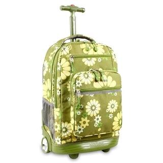 J World New York Sundance Rolling Backpack, Khaki Flower